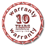 We now offer a 10 year warranty